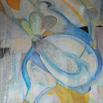 Fiore XXIX - acrilico e olio su tela, 80x100