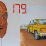 Amare direzioni per chi non sa leggere - acrilico, olio e spray su tela, 127x112