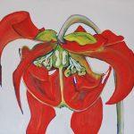 Fiore XXVIII - acrilico e olio su tela, 70x80