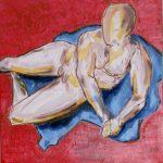 Studio senza titolo - acrilico ed olio su tela, 40x40