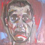 Autoritratto - acrilico ed olio su tela, 70x70
