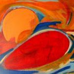 Natura morta - acrilico ed olio su tela, 50x70