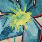 Fiore XVI - olio su plexiglass, 37,5x41,5