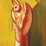 Ritratto - acrilico ed olio su tela, 30x40
