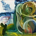 Donna - acrilico ed olio su tela, 60x60