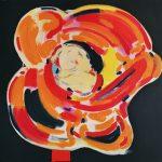 Fiore XXIII - acrilico e olio su tela, 70x70 - dedicato a Guido Boni nato a Firenze nel 1943
