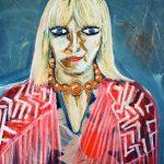 La Ferri - acrilico e olio su tela, 60x80 - tributo a Gabriella Ferri