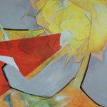 Fiore XVIII - acrilico e olio su tela, 100x80