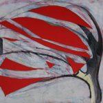 Fiore XXI - tecnica mista su tela, 80x70