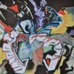 Egocat - acrilico e olio su tela, 70x70