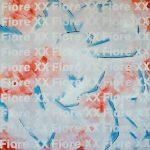 Fiore XX - acrilico, olio e spray su tela, 70x70