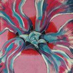 Fiore XIV - acrilico ed olio su tela, 100x120