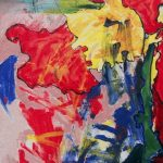 Fiore XXIV - acrilico e olio su tela, 35x50