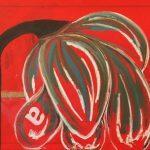 Fiore XXV - tecnica mista su tela, 100x80