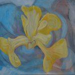 Fiore XXX - acrilico e olio su tela, 80x100