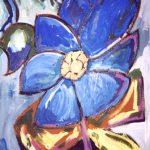 Fiore III - acrilico ed olio su cartone, 70x100