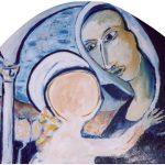 Natività - acrilico ed olio su tavola, 38x42