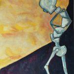 Tra terra e cielo - acrilico ed olio su tela, 40x80
