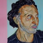 Antonio - acrilico ed olio su tela, 60x70 - ritratto di Antonio Adelino Garzotti