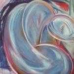 Figura china - olio ed acrilico su tela, 70x80