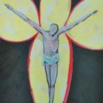 Croce fisso - acrilico ed olio su tela, 80x120