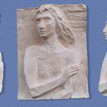 Maddalena - bassorilievo in gesso, 30,7x41x11 - lavoro eseguito nel laboratorio di scultura della scuola Vantini, Rezzato BS