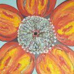 Fiore V - acrilico ed olio su tela, 80x80