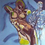 Distantia - acrilico ed olio su tela, 80x80