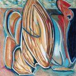 Bocca - pastello ad olio, 60x60
