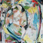 Fiore XXII - acrilico e olio su tela, 30x40