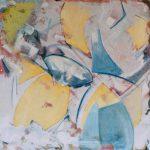 Fiore XIX - acrilico e olio su tela, 70x70