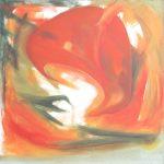Fiore XXVII - acrilico e olio su tela, 80x80