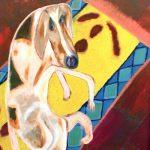 Cane - olio su faesite, 84x108